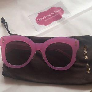 Henri Bendel Melanie Bubble Gum pink sunglasses